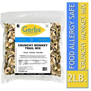 Crunchy-Monkey-Chocolate-Mix-2-LBS-Food-Allergy-Safe-amp-Non-GMO-by-Gerbs