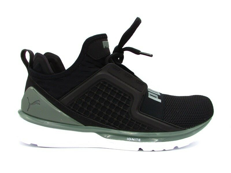 PUMA IGNITE LIMITLESS KNIT V SNEAKERS NERO GRIGIO BIANCO 191256-02 New shoes for men and women, limited time discount