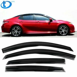 Fit-For-18-20-Toyota-Camry-Mugen-Style-Acrylic-Window-Visors-4Pcs