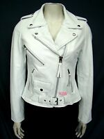 Women Motorcycle Designer Canada Style Lambskin Belted Leather Jackets EHS W- 31
