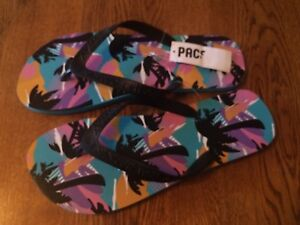 NEFF PacSun Tropical Print Flip Flop Sandals Men's Size 8 NEW!!!