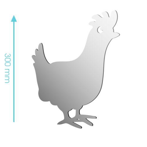 Nouveau acrylique poulet poule coq animaux de ferme miroir-tailles 100mm à 1200mm