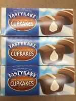 Tastykake (lot Of 3) Creme Filled Chocolate Cupcakes 12ct Priority Mail