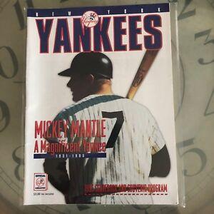 New York Yankees 1995 score book & souvenir program Mickey Mantle cover