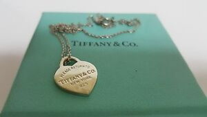 3a2366746 Tiffany & Co. Small Return To Heart Pendant Charm Curb Necklace ...