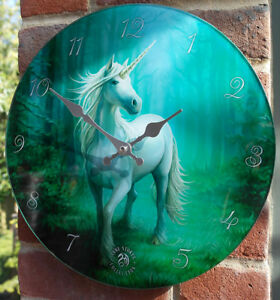 Forest-Unicorn-Glass-Wall-Clock