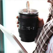 Travel Coffee Mug Cup Thermos Stainless Steel Canon Camera Lens Lid Food 301ml