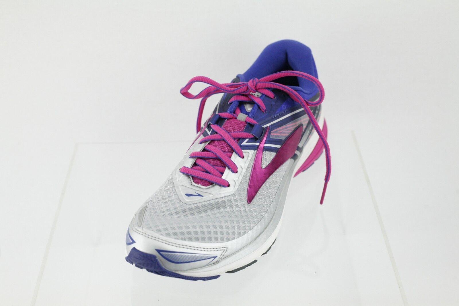 femmes  Brooks Ravenna 8 1202381B089  Gris /bleu Lace-up Running  Chaussures