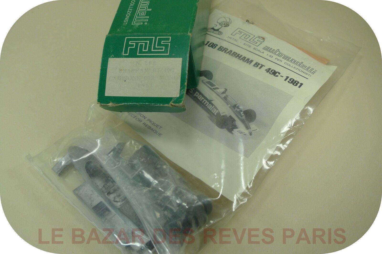 F.D.S  Kit  métal. F1   BRABHAM BT 49C  1981.  échelle 1 43
