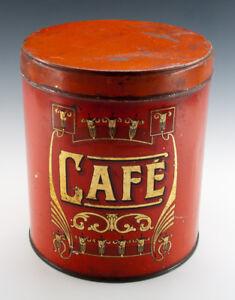 Urige-Blechdose-CAFE-KOFFIE-wohl-um-1915