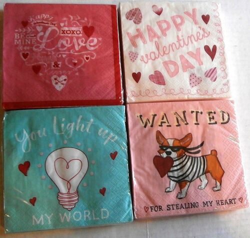 Your Choice VALENTINE/'S DAY Cocktail Napkin Assortment 20 ct 2 Ply