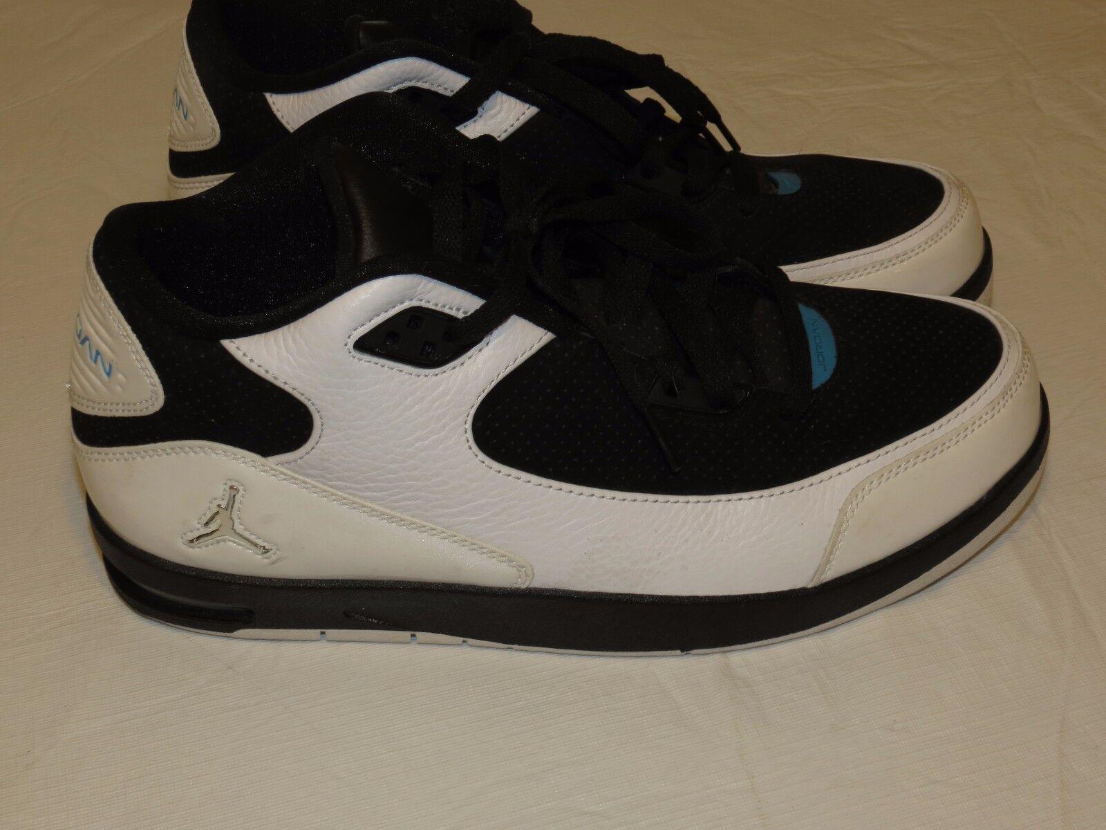 Le scarpe nike air jordan uomini ci rare ln3 basket bianco nero 428825-105 11