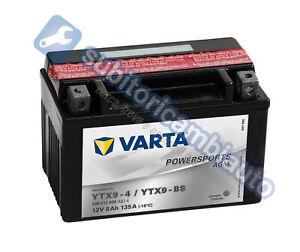 BATTERIA-MOTO-8Ah-VARTA-12V-80A-di-spunto-Powersports-AGM-508012008-YTX9-BS-YT