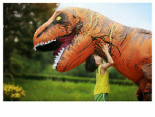 WOW ADULT T-REX INFLATABLE Costume Jurassic World Park Blowup Dinosaur Xma PTY $