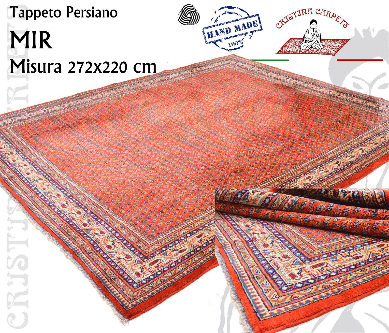 Tappeto Persiano Mir Stilizzato rot Corallo Annodato a mano Lana Lana Lana 220x272 cm 0f8a89