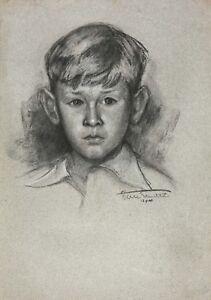 Portraet-von-Junges-Junge-Unterzeichnet-in-Niedrig-Rechts-Datiert-12-Juli-40