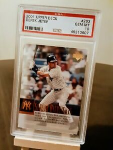 2001-UPPER-DECK-263-Derek-Jeter-New-York-Yankees-HOF-Perfect-PSA-GEM-MINT-10