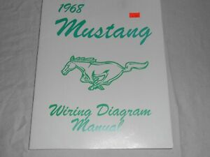 1968 Mustang Wiring Diagram Manual Ebay