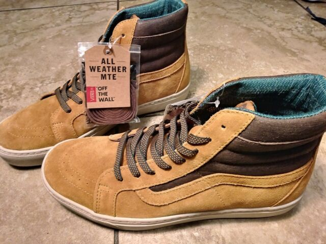 83f0c6fc7813b6 New Mens Vans Sk8 Hi MTE Cup Cathay Hummus Suede Classic Skate Shoes Size 9