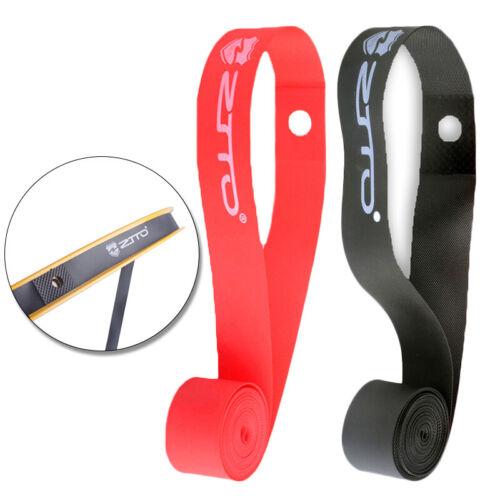 2Pcs//set Bike Inner Tube Pad PVC Rim Wheel Tire Protector Tape Anti-Puncture