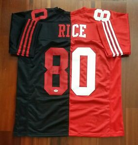 a92f27b07c1 Image is loading Jerry-Rice-Autographed-Signed-Jersey-San-Francisco-49ers-