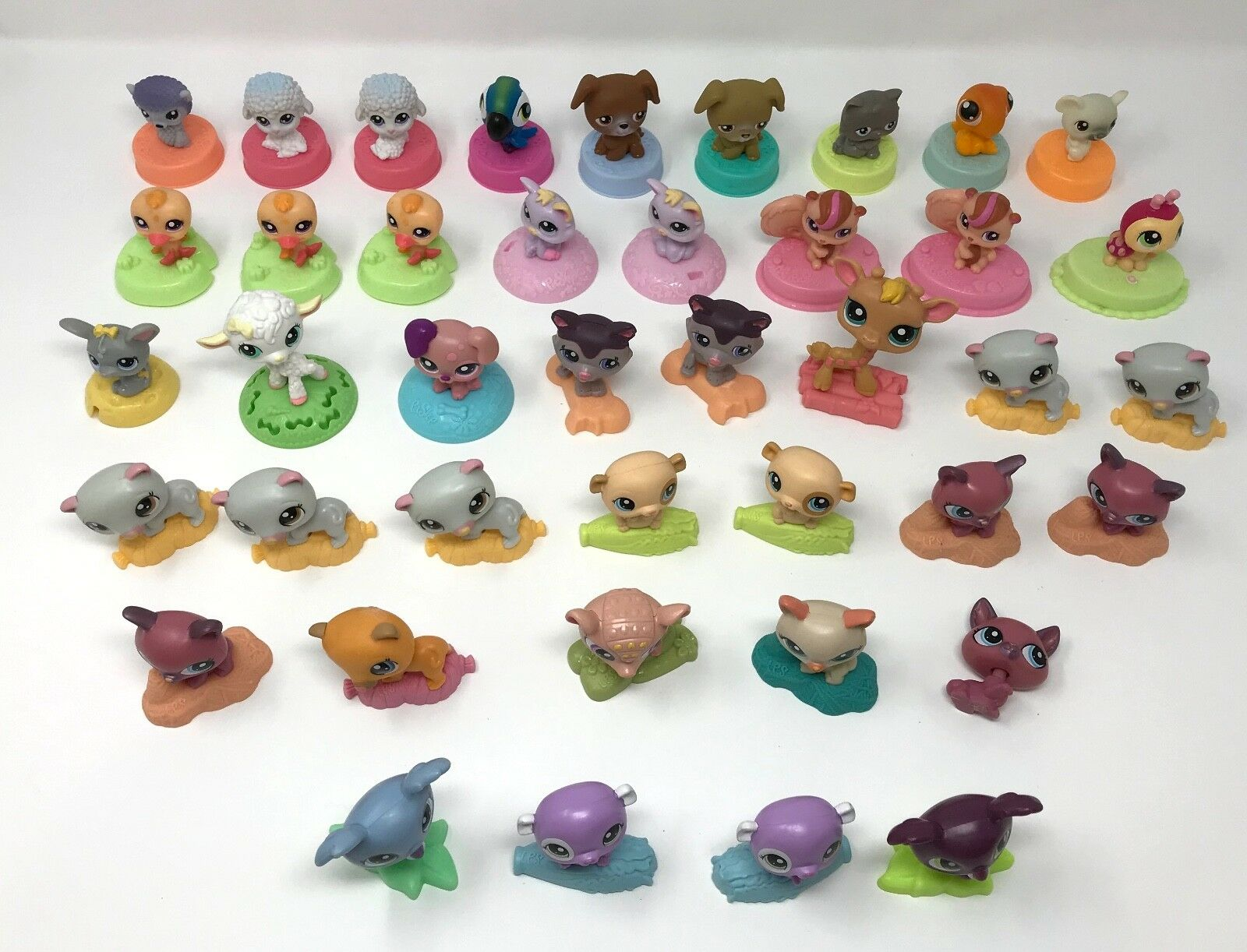 Huge Huge Huge lot of 41 Littlest Pet Shop McDonalds toys LPS animals dog cat Christmas a 725800