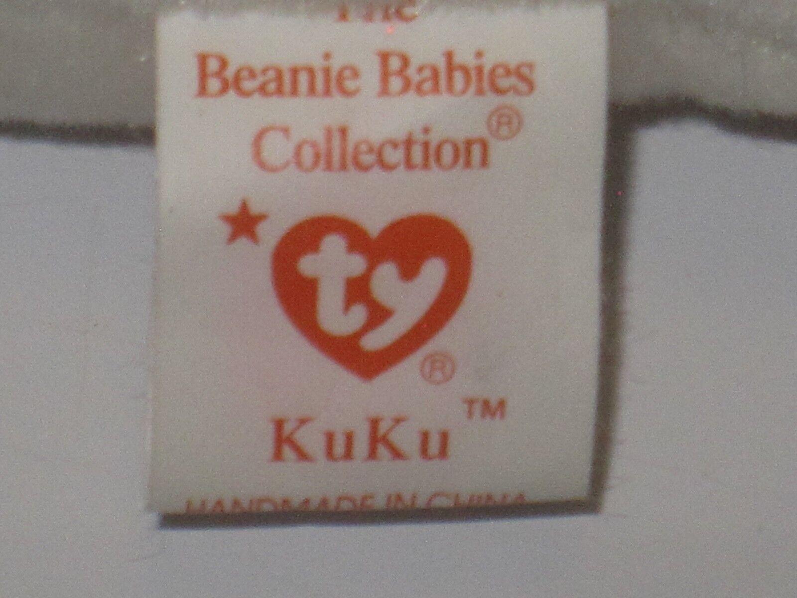 Ty Beanie Beanie Beanie Baby Kuku Original P.E. Pellets 1997 1998 f90903