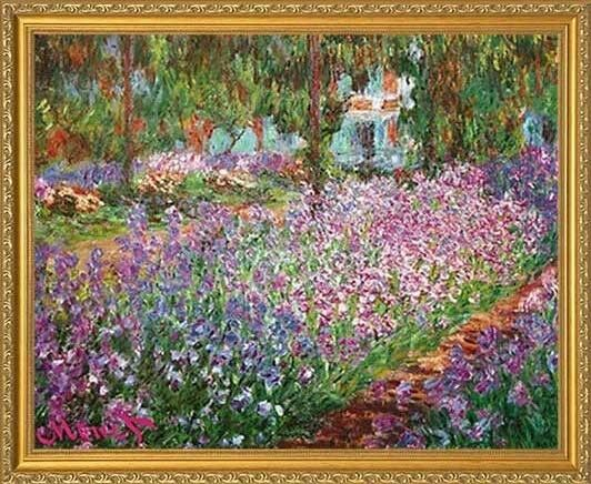 Framed Art Print Le Jardin De Monet A Giverny By Claude Large For