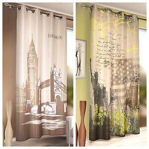senschal new york london senvorhang vorhang sen aufh ngung bxh 135x245cm ebay. Black Bedroom Furniture Sets. Home Design Ideas