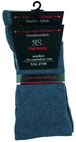 2-10 paia di calze cotone uomo Extra larga lontano sulla dimensione senza elastico 47//50
