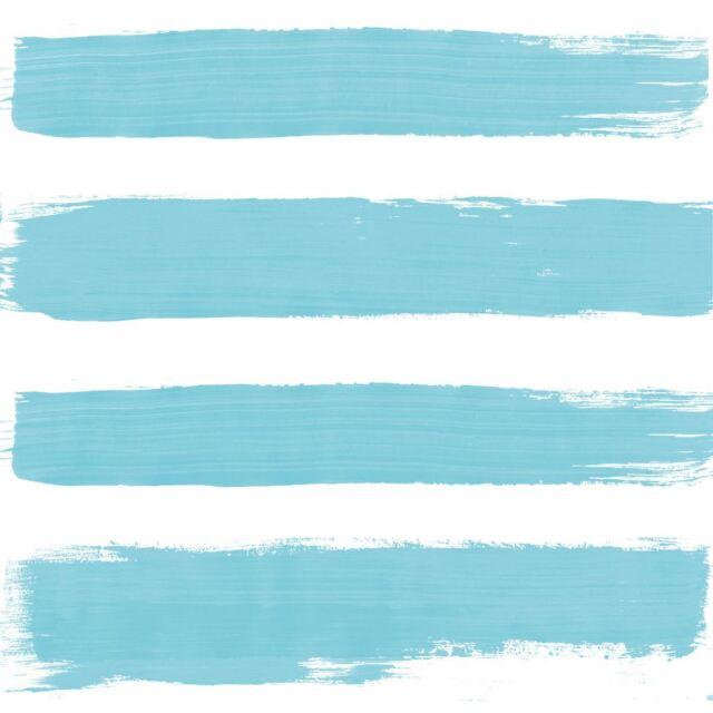"""PAINT BRUSH-STYLE STRIPES BLUE 3-PLY 20 PAPER NAPKINS SERVIETTES 13""""x13""""–33X33CM"""