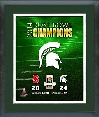 Size: 12.5 x 15.5 Michigan State Spartans 2014 Rose Bowl Photo Framed