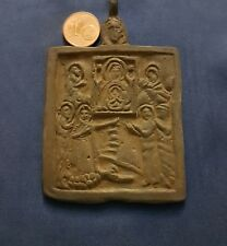 VERY ANCIENT GREAT MEDAL RELIGIOUS OF BRONZE 8,5 x 5,5 centimeters