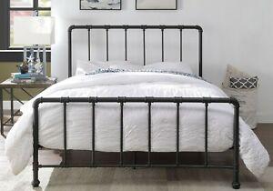 Metal Bed Frame Black, Ikea Black Metal Bed Frame King