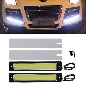 Car-LED-COB-DRL-Daytime-Running-Light-Flexible-Reversing-Fog-Lamp-DC-12V-2Pcs