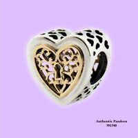 Pandora Locked Love Openwork Charm In 925 Sterling Silver With 14k Gold, 791740 on sale