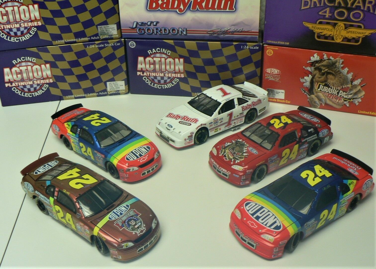 NASCAR - JEFF GORDON - Lot of 5 (1997/1998) Collectable Cars by ACTION Racing