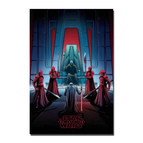 Star Wars The Last Jedi Throne Room Kylo Ren Canvas Poster 12x18 24x36