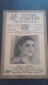 REVUE LE GUIDE DU CONCERT ET DES THEATRES LYRIQUES 1931 N°11 H.KRIANINE