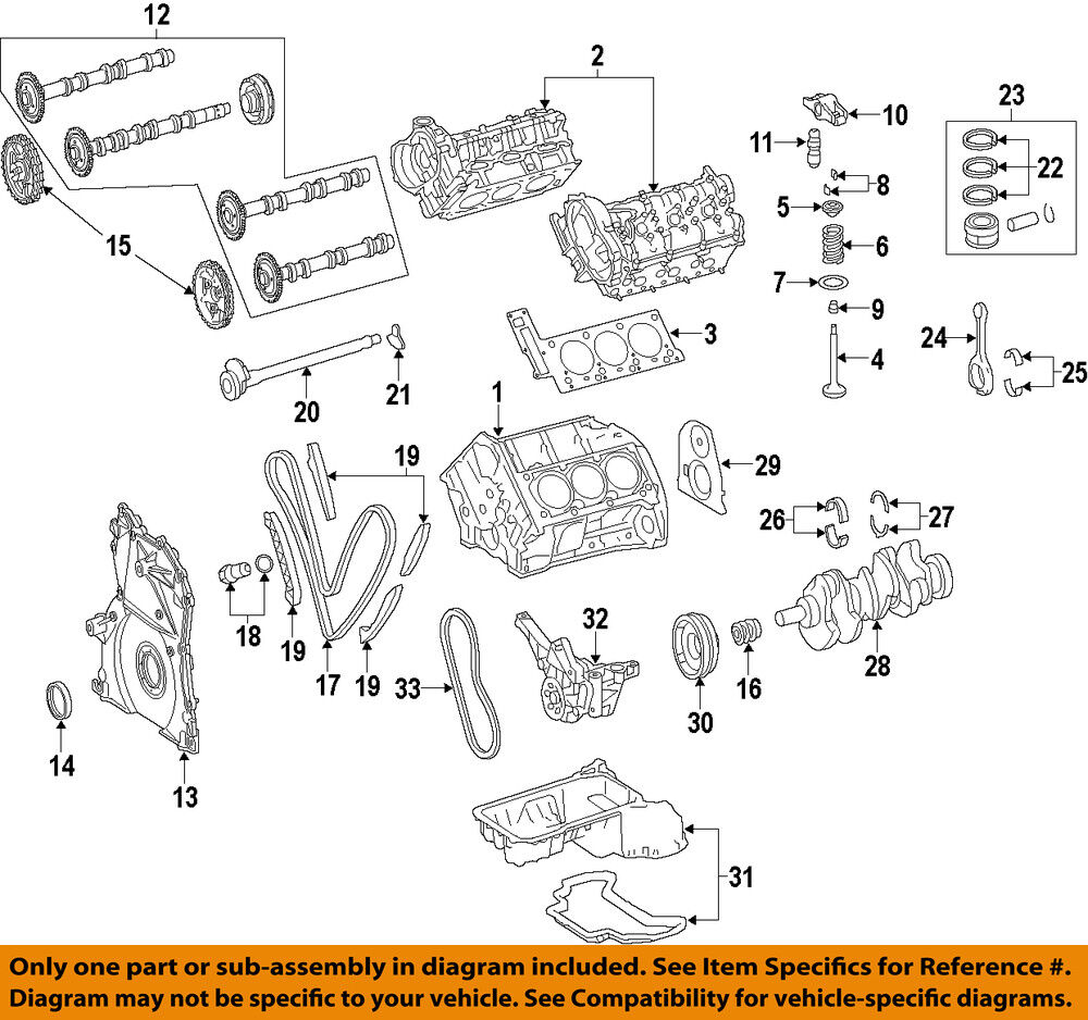 Engine Crankshaft Main Bearing Upper Mopar 05179441aa Ebay Ej22 Diagram Stock Photo