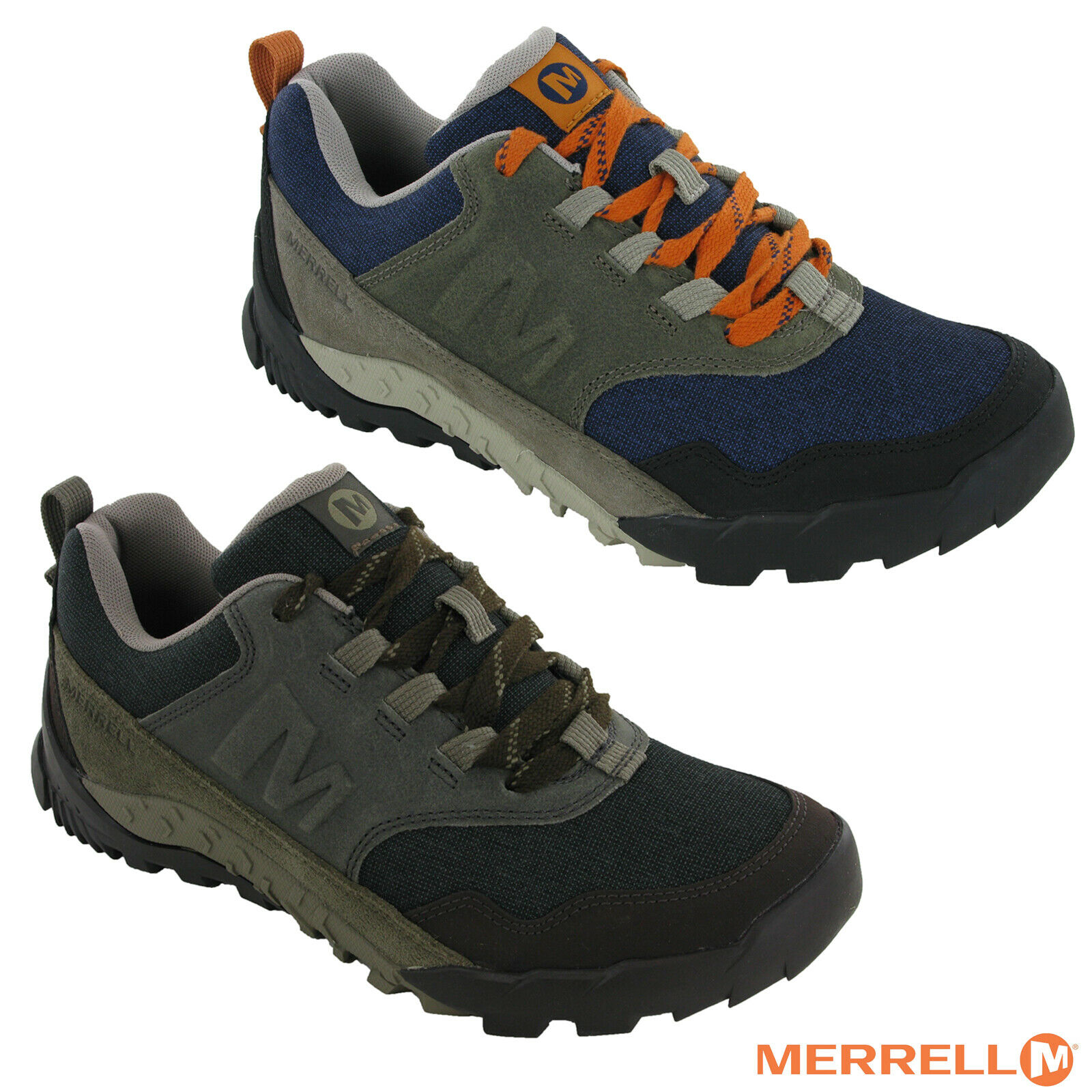 Merrell Annex Recruit Leather & Mesh Mens Lace Trainers Walking Trekking schuhe