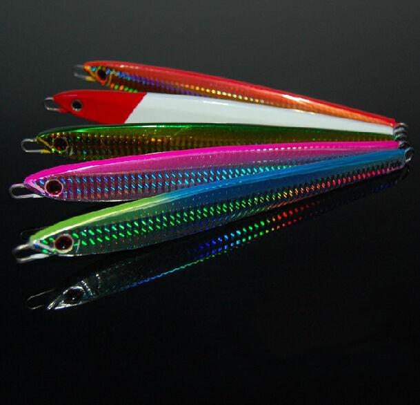 5PCS Deep sea Metal Slow Jig Jigging Fishing Lure Jigbait spoon Hook 150g 200g