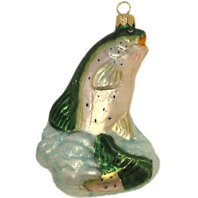 Weihnachtsschmuck Aufhänger aus Glas Glasfigur Fisch Weihnachtsdekoration Figur