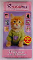 Rachae Hale's Puppies & Kittens 34 Valentines With 35 Stickers,