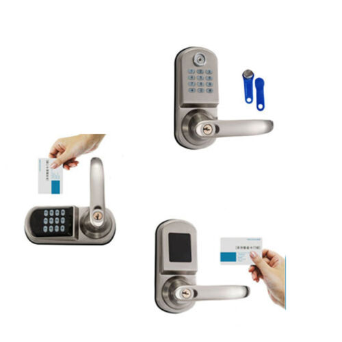 Door Lock Keyless Electronic Smart Code Entry Security Knob Password+MFCard+2Key
