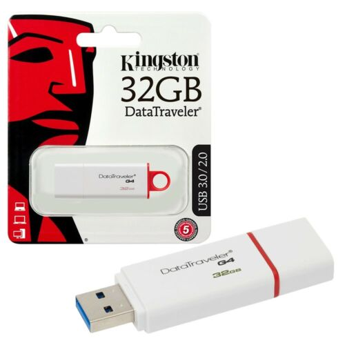 GENUINE KINGSTON DATA TRAVELER G4 USB FLASH MEMORY STICK DRIVE 8GB 16GB 32GB
