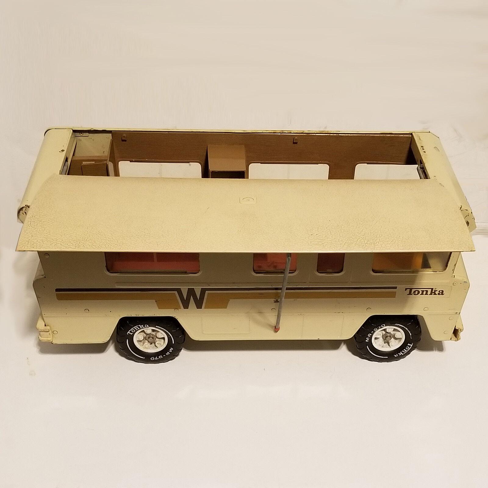 gran descuento Vintage Vintage Vintage década de 1970 Tonka Winnebago indio Camper RV 3885 1973 Acero Prensado Juguete rl  tienda de ventas outlet