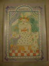 NEW Kathy Orr C.R. Gibson Bunny Rabbit Address Book Purple Dress 110 Pages 4 x 6