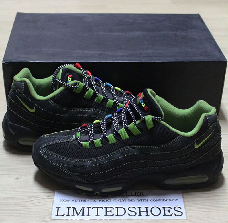 2006 NIKE AIR MAX 95 ID SOLE COLLECTOR COWBOY SPECIAL BLACK NEON RAINBOW US 12