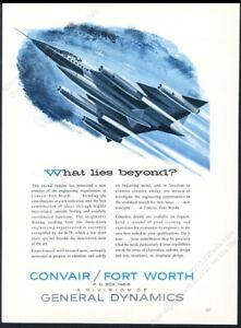 1959 B-58 B58 Hustler USAF plane art Convair vintage print ad